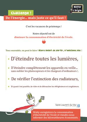 image pour Le challenge des écoles de Saint Laurent du Var : «De l'énergie… mais juste ce qu'il faut !»