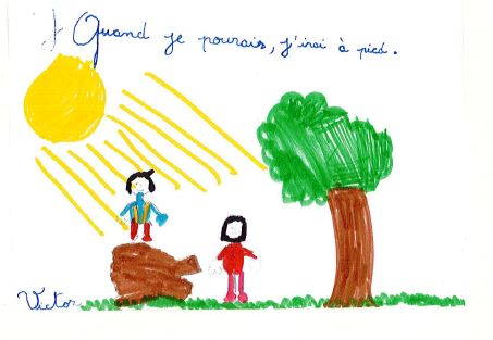 quand je pourais, j'irai à pied : Watty à l'école à Valbonne, signé Victor