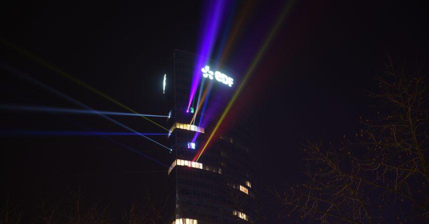 EDF illumine La Défense