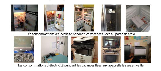 les consommations d'électricité pendant les vacances scolaires