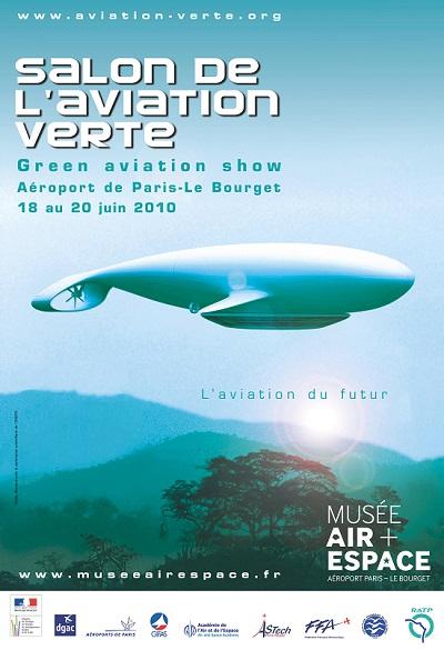 affiche musee air aviation verte