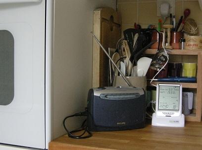 BaroWatt sur le plan de travail de la cuisine
