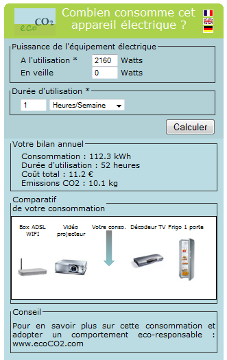 widget barowatt eco co2
