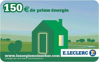 Carte Eco Energie 150 euros chez Leclerc
