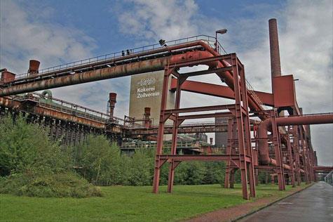 Ancienne mine de charbon en Allemagne