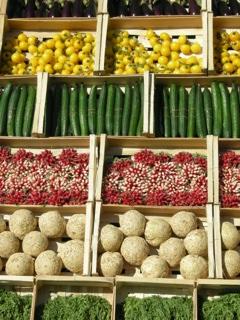 produits bio en cagette