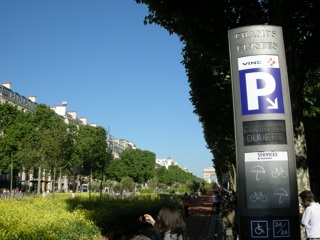 champs elysees verts parking