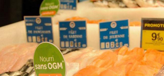"""Etiquetage """"nourri sans OGM"""" chez Carrefour"""