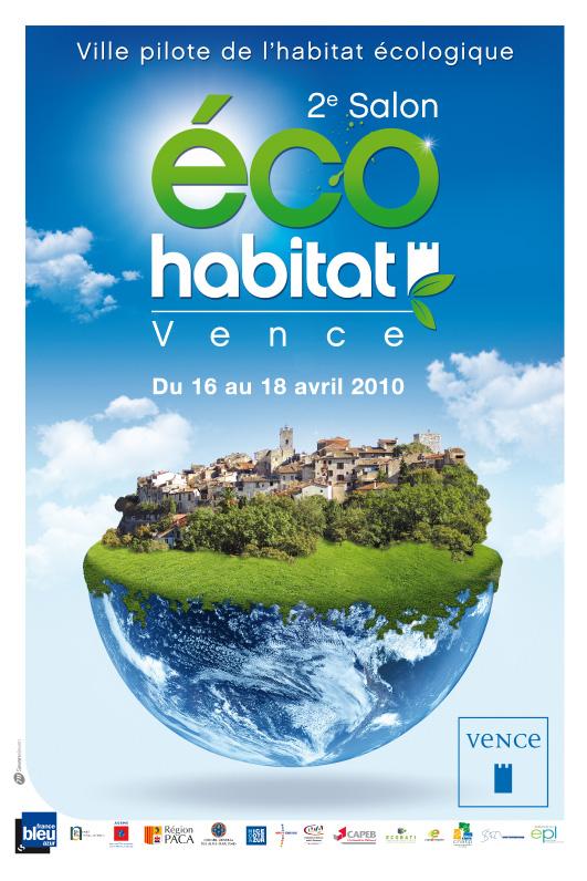 Affiche Salon eco-habitat Vence 2010