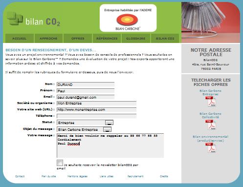 demande de devis bilanco2.com