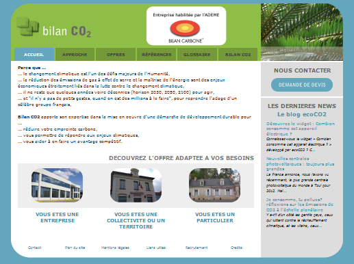 Accueil site web bilanco2.com