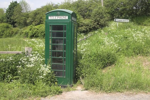 Cabine telephone en pleine nature