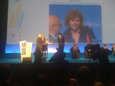 Conie Hedegaard au congres des ENR en janvier 2010