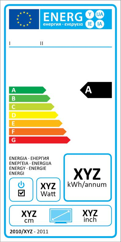 etiquette energie television