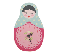 Horloge poupée russe