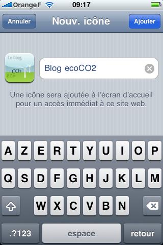ajouter nouvelle icone ecran accueil iPhone
