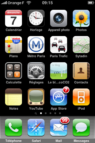icone blog eco CO2 sur ecran iPhone