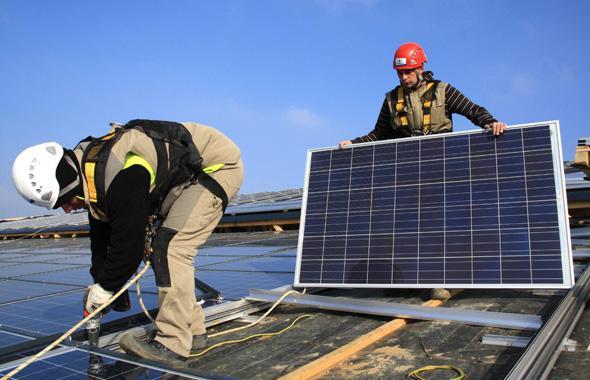 installation panneaux solaires et budgt developpement durable