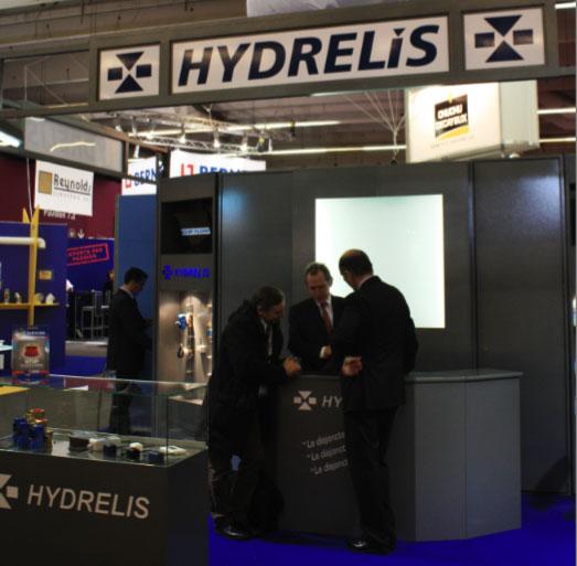 Le stand Hydrelis a Interclima-elec 2010