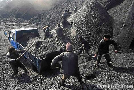 mine de charbon en chine