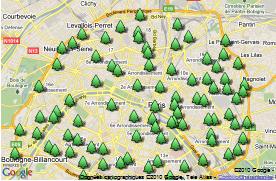 95 points de collecte pour les sapins a Paris