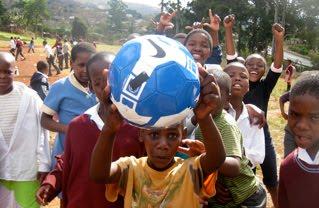 Ballon Soccket testé en Afrique près de Durban juin 2010
