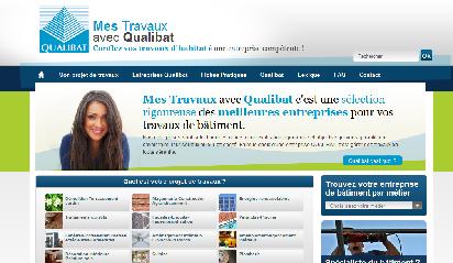 le site web travaux-qualibat