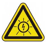 icone danger electrique sur installation photovoltaique