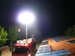 tests intervention pompier de nuit sur installtion photovoltaique