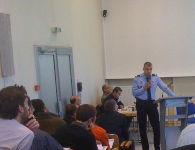 Forum photovoltaique intervention Capitaine des pompiers