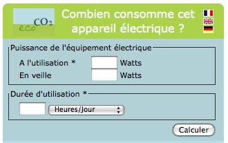 combien consomme cet appareil électrique ?