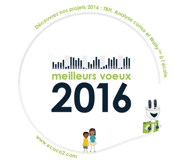 meilleurs voeux 2016 de la part d'Eco CO2