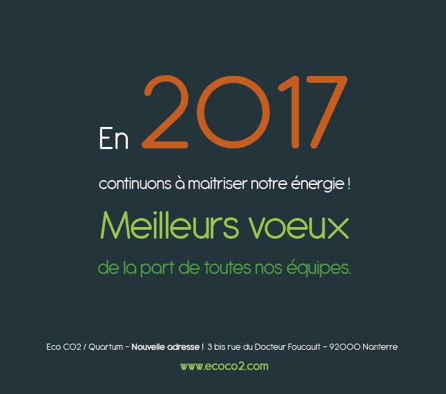 Meilleurs voeux, En 2017, continuons, ensemble, à maîtriser nos énergies !