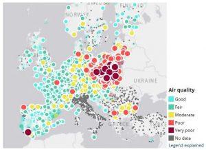 Qualité de l'air européenne