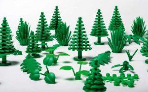 Briques LEGO en plastique végétal