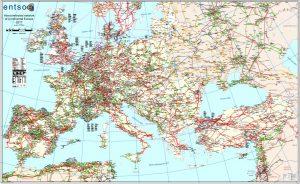Carte du réseau interconnecté