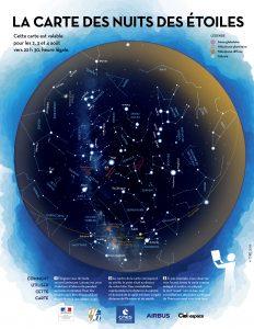 Carte du ciel pour la Nuit des Etoiles