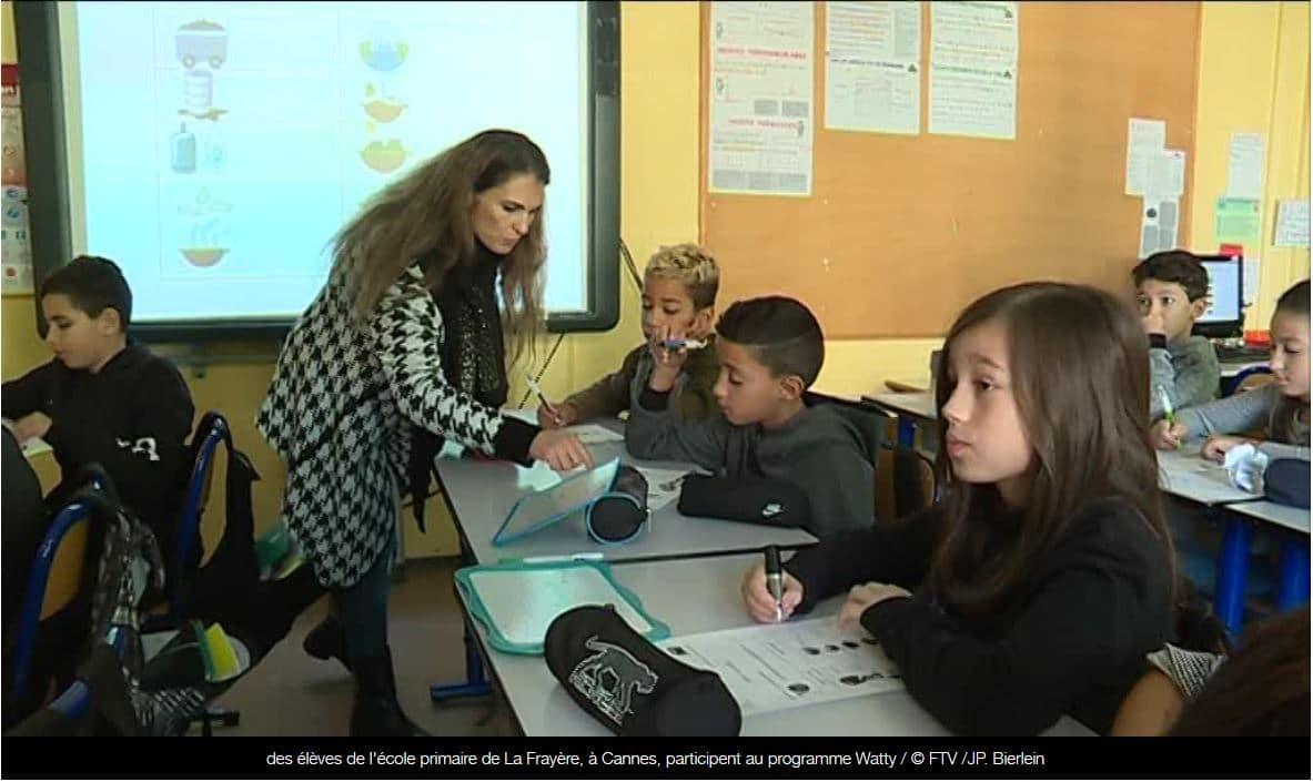 Reportage France 3 Provence Alpes Côte d'Azur : Cannes sensibilise les enfants aux économies d'énergie avec Watty