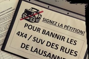 Pétition à Lausanne contre les grosses voitures