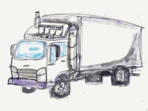 émissions de CO2 des camions