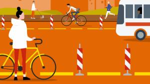aménagemets cyclables provisoires, un guide du Cerema
