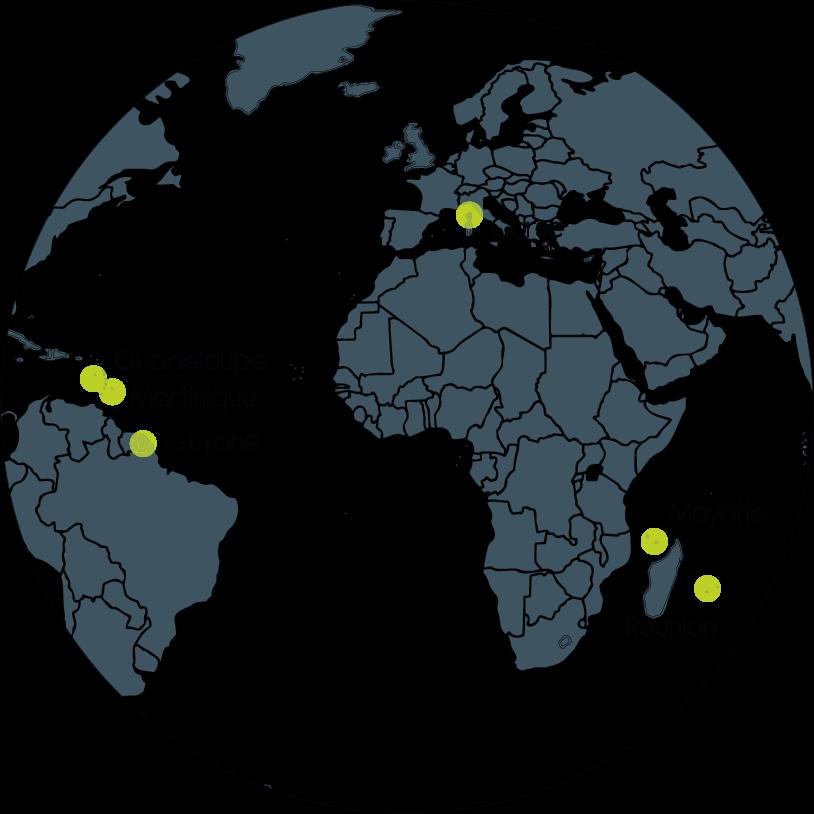 Globe implantations