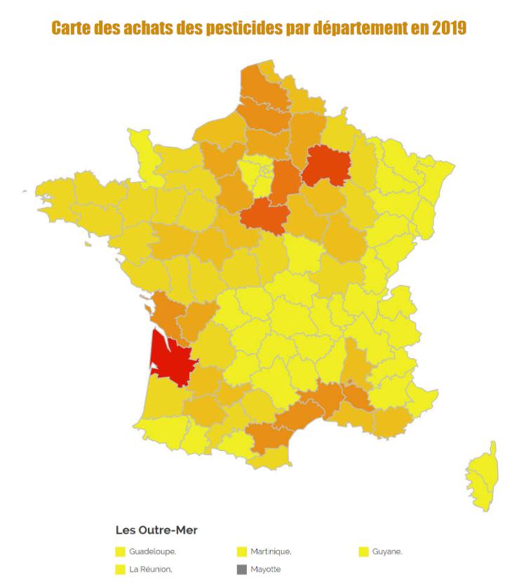 Les achats de pesticides en France